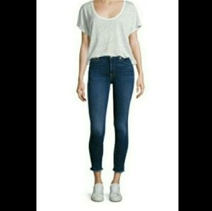 7 For All Mankind Raw Edge Crop Jeans